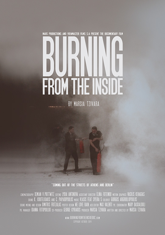Filmposter Burning from the inside