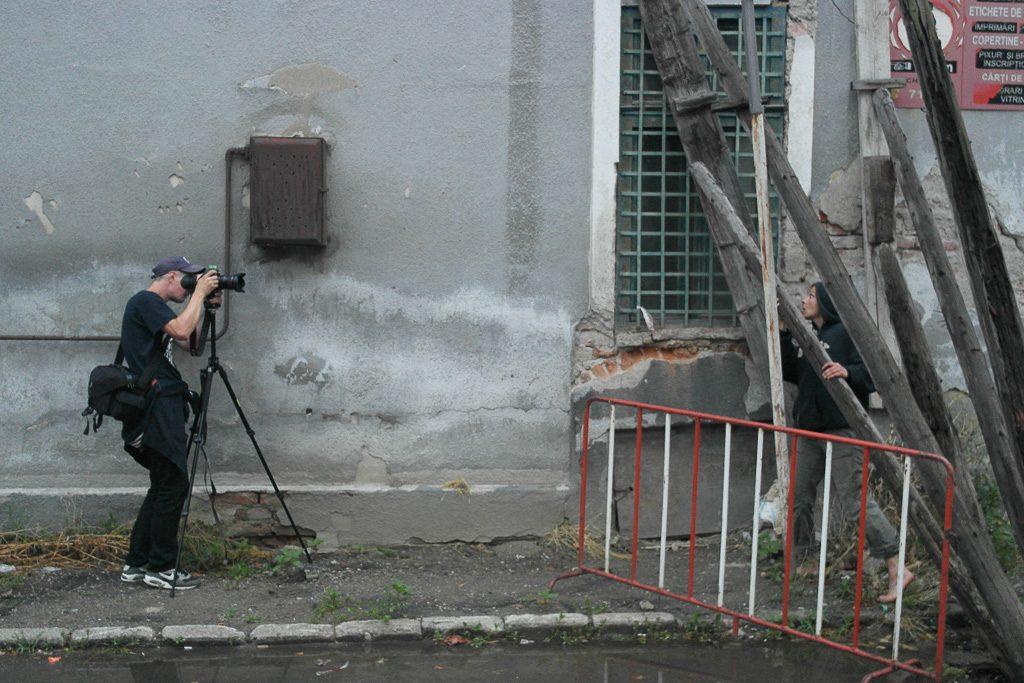 Dreh mit Kameramann Demian von Prittwitz in Satu Mare, Rumänien für die Produktion Dracula der CIE. Freaks und Fremde. Regie: Albrecht Hirche
